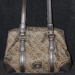 Liz Claiborne Brown Logo Purse Tote Shoulder Bag
